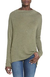 Leith Long Sleeve Cowl Neck Pullover Olive Sarma Heather