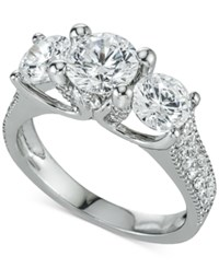 Macy's Diamond Multi Stone Engagement Ring 3 Ct. T.W. In 14K White Gold No Color