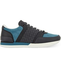 Bottega Veneta Woven Running Trainers Grey Other