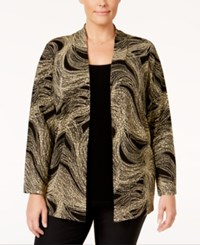 Jm Collection Plus Size Printed Layered Look Top Only At Macy's Neutral Loop De Loop