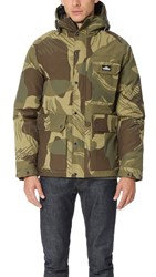 Penfield Apex Camo Down Insulated Parka Olive