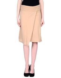 Plein Sud Jeans Knee Length Skirts Sand