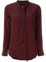 Equipment By Kate Moss Polka Dot Blouse Black