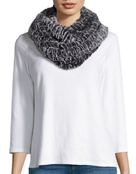Modena Marled Faux Fur Infinity Scarf Brown
