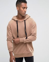 Jack And Jones Hoodie With Drawstring Hood Tigers Eye Tan