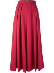 Antonio Marras Long Pleated Skirt Red