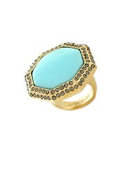 Louise Et Cie Au Naturel Turquoise Cocktail Ring