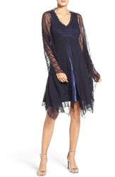Komarov Women's Embellished Chiffon A Line Dress And Shawl