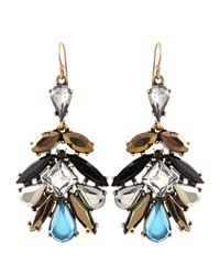 Lydell Nyc Marquis Drop Rhinestone Earrings