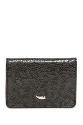 Tusk Gusseted Leather Shimmer Card Case Gray