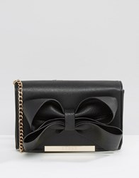 Lipsy Bow Detail Cross Body Bag Black