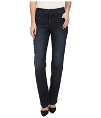Nydj Hayley Straight In Burbank Burbank Women's Jeans Black