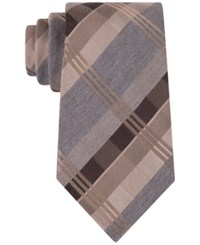 Geoffrey Beene Men's Mad For Plaid Tie Taupe