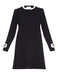 Goat Washington Collarless Wool Coat