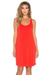Splendid Rayon Jersey Tank Dress Red