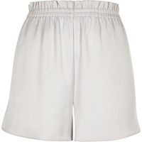 River Island Womens Silver Soft Woven Shorts