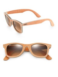 Ray Ban 50Mm Wayfarer Denim Sunglasses Orange