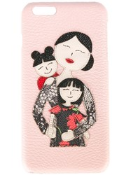Dolce And Gabbana Family Patch Iphone 6G Plus Case Pink Purple