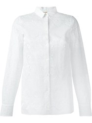No21 Embroidered Lace Shirt White
