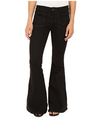 Free People Stella High Rise Flare Jeans In Black Black Women's Jeans