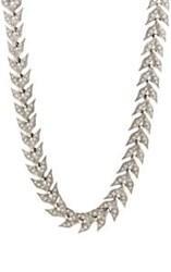 Cathy Waterman Women's White Diamond And Platinum Wheat Link Necklace Co Colorless