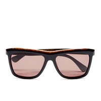 Calvin Klein Women's Platinum Sunglasses Black Marble