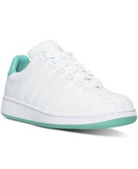 K Swiss Women's Classic Vn Sherbet Casual Sneakers From Finish Line White Pool Green