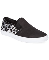 G By Guess Women's Malden Casual Slip On Sneakers Women's Shoes Black Snow Leopard