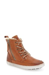 Blackstone Women's 'Cw96' Genuine Shearling Lined Sneaker Boot Ember Leather