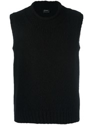 Jil Sander Knitted Sleeveless Sweater Black