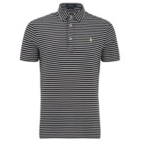 Polo Ralph Lauren Men's Striped Pique Polo Shirt Black White