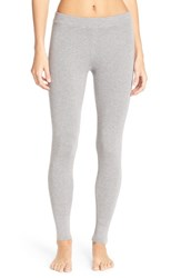 Nordstrom Women's Lingerie Ribbed Leggings Grey Steel Heather