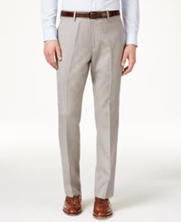Louis Raphael Men's Straight Fit Flat Front Hidden Flex Dress Pants