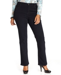 Style And Co. Plus Size Tummy Control Bootcut Jeans Rinse Wash