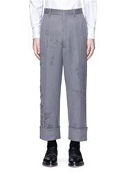 Thom Browne 'Phase 3' Distressed Cavalry Twill Pants Grey
