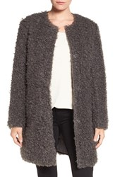 Via Spiga Women's Reversible Faux Fur Coat Grey