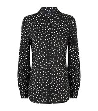 Armani Jeans Polka Dot Print Collar Shirt Female Black