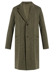 Christophe Lemaire Deconstructed Wool Coat Grey Multi