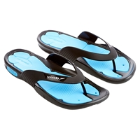 Speedo Pool Surfer Thong Sandals Black Blue
