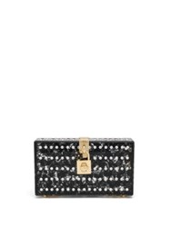 Dolce And Gabbana Embellished Acrylic Covered Lace Clutch