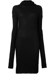 Isabel Benenato Roll Neck Long Pullover Black