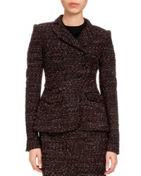 Altuzarra Doubled Breasted Tweed Jacket Black Red