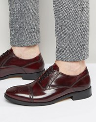 Base London Xxi Noel Leather Oxford Shoes Red