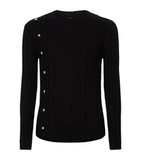 Versus By Versace Versus Versace Studded Cable Knit Sweater Male