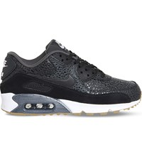 Nike Air Max 90 Dot Patterned Leather Trainers Black White Safari