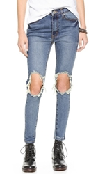 Unif Peach Pit Skinny Jeans Blue