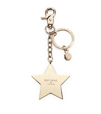 Aspinal Of London Gold Plated Star Handbag Charm Keyring Unisex