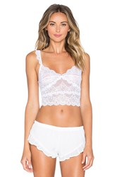 Only Hearts Club So Fine With Lace Crop Cami White