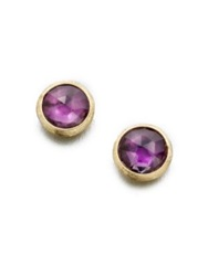Marco Bicego Jaipur Amethyst And 18K Yellow Gold Stud Earrings Gold Amethyst