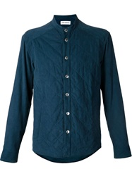 Umit Benan Quilted Shirt Blue